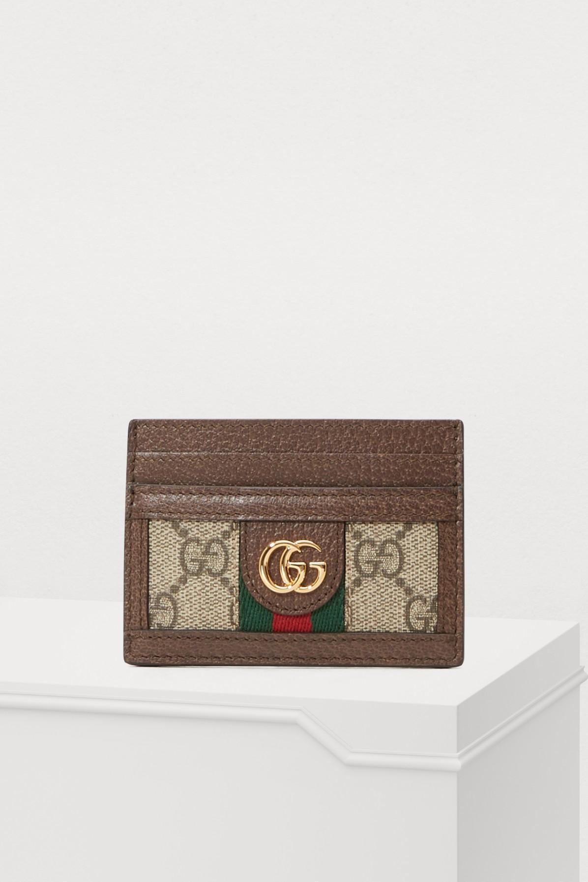d6c303e23c3 Gucci Women s Beige Gg Supreme Cardholer Card Holder In Neutrals ...