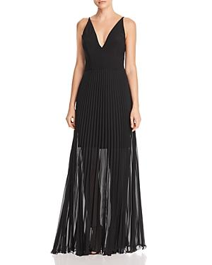 8e564059 Avery G Pleated Illusion Gown In Black | ModeSens