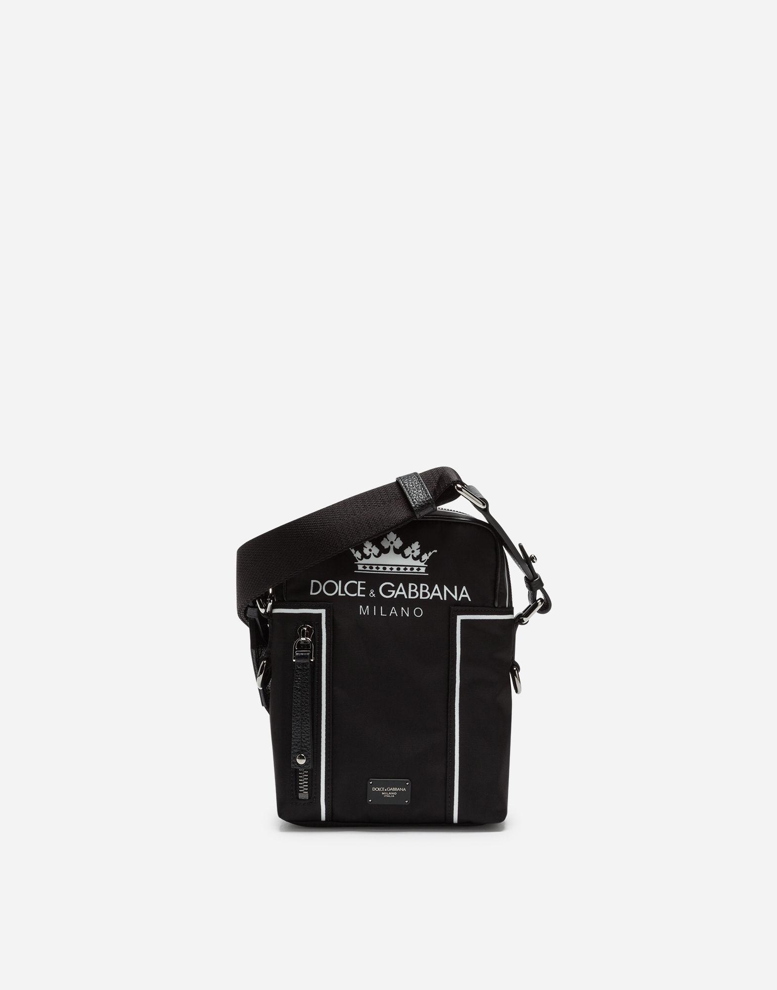 5a21e7dc9 Dolce   Gabbana Vulcano Shoulder Bag In Printed Nylon In Black ...