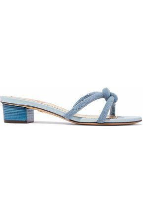 d5192dabe21d4b Charlotte Olympia Woman Knotted Terry Mules Light Blue
