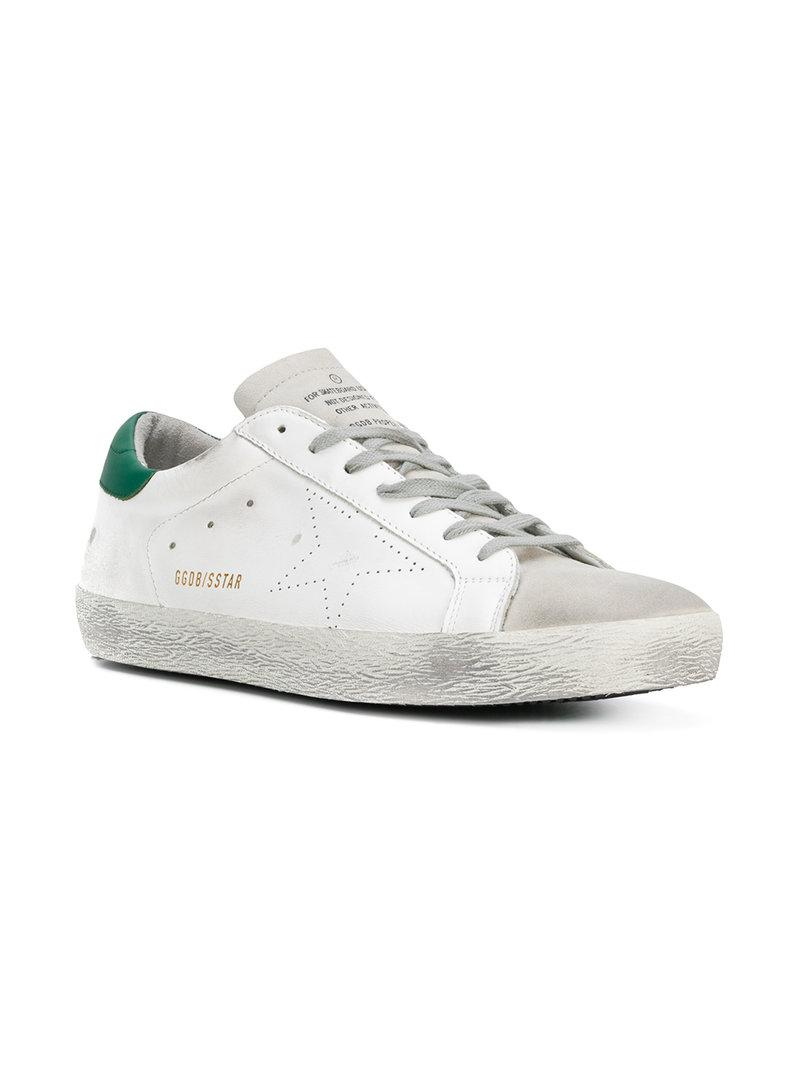Golden Goose Men's Superstar Distressed Leather Low-Top Sneakers In White