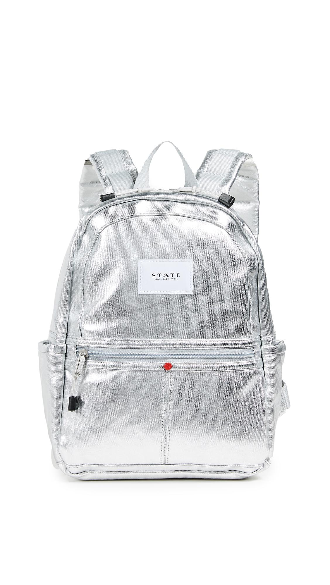 state mini kane backpack in silver modesensstate mini kane backpack in silver