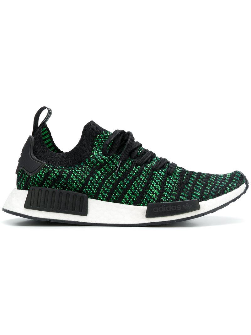 hot sale online cf3c7 8e67a Adidas Originals Men s Nmd R1 Primeknit Lace Up Sneakers In Green