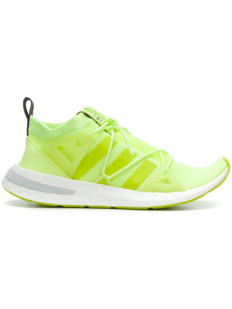 12aba1616962 Adidas Originals Arkyn Rubber-Trimmed Neon Mesh Sneakers In Chartreuse