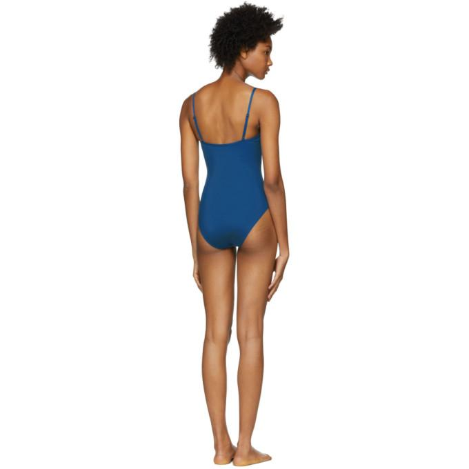 0692a42a6c Her Line Blue Sabine One-Piece Swimsuit In True Blue   ModeSens