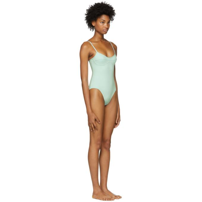 73cff53ae4 Her Line Green Sabine One-Piece Swimsuit In Cool Mint   ModeSens