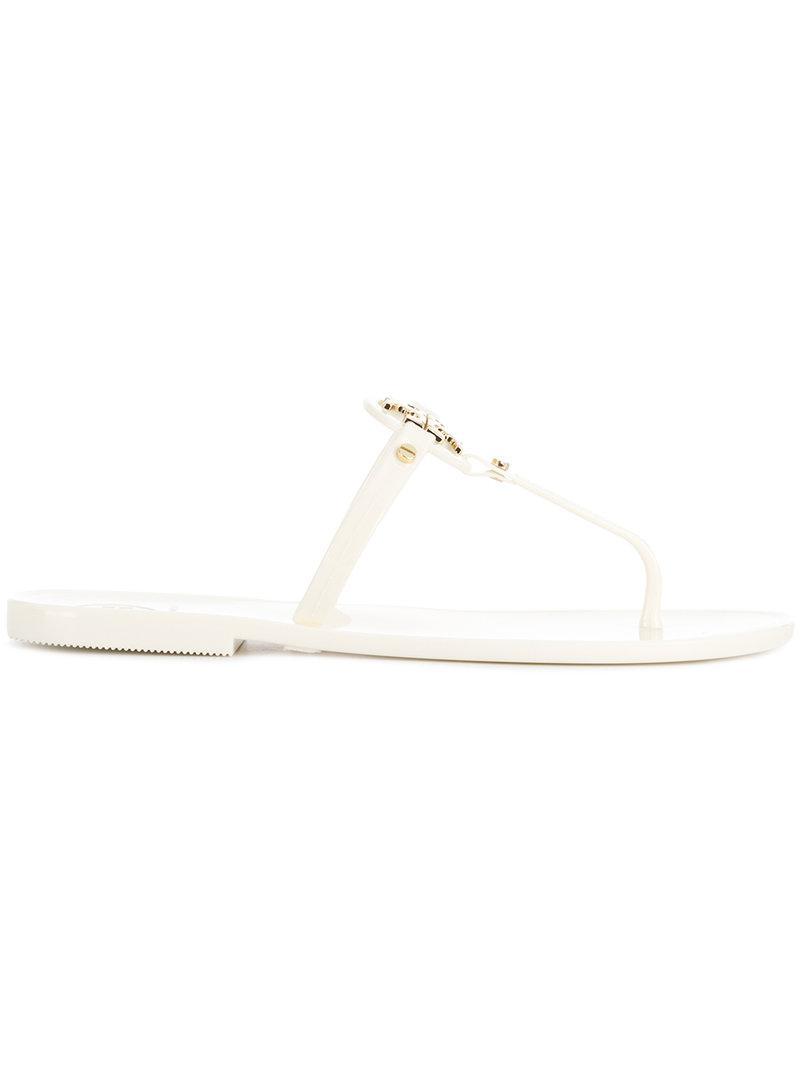 cf08d9e38150e2 Tory Burch Liana Flat Sandals - White