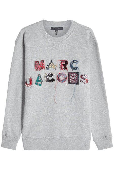 189465460 Marc Jacobs Logo-Embroidered Cotton Terry Sweatshirt - Gray In 032 ...