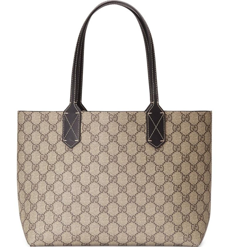 6b24b345ad5cac Gucci Small Turnaround Reversible Leather Tote - None In Beige Ebony ...