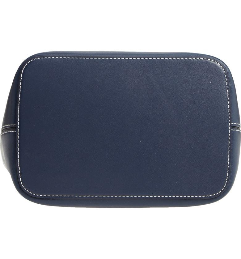 2bee495c5ea6 Tory Burch Miller Smooth Leather Tassel-Tab Shoulder Hobo Bag In Royal Navy