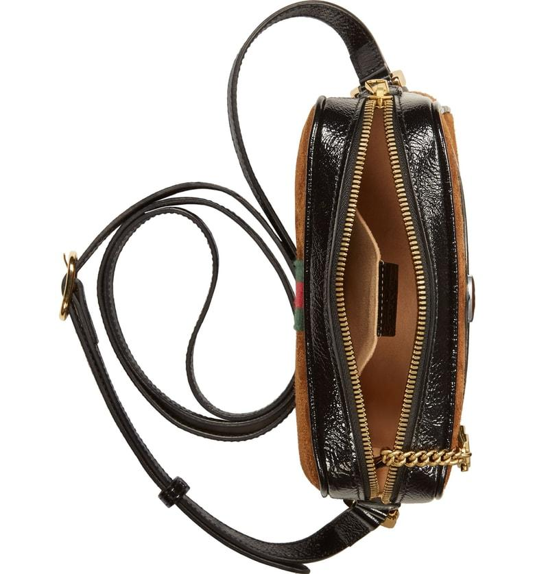 Gucci Ophidia Small Suede & Leather Crossbody Bag - Brown