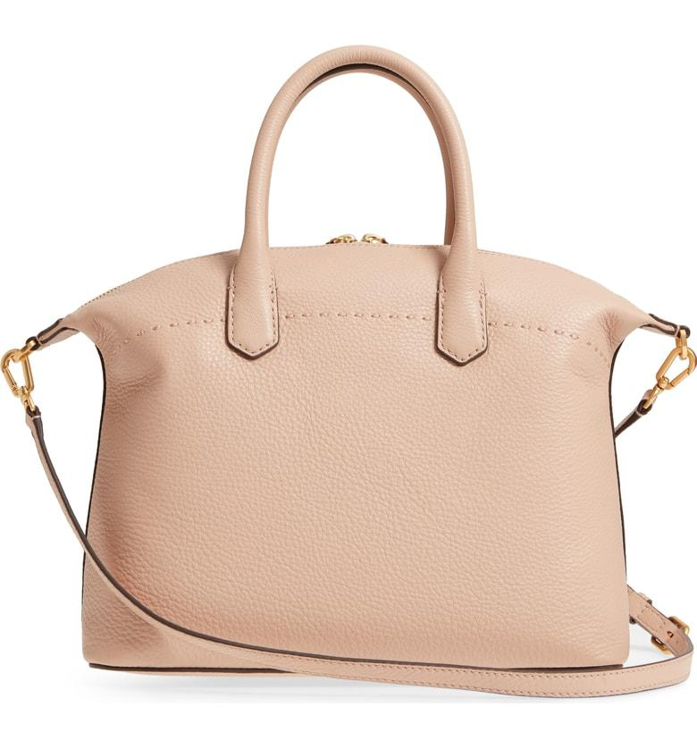 74d775783daa16 Tory Burch Mcgraw Slouchy Leather Satchel - Pink In Devon Sand ...