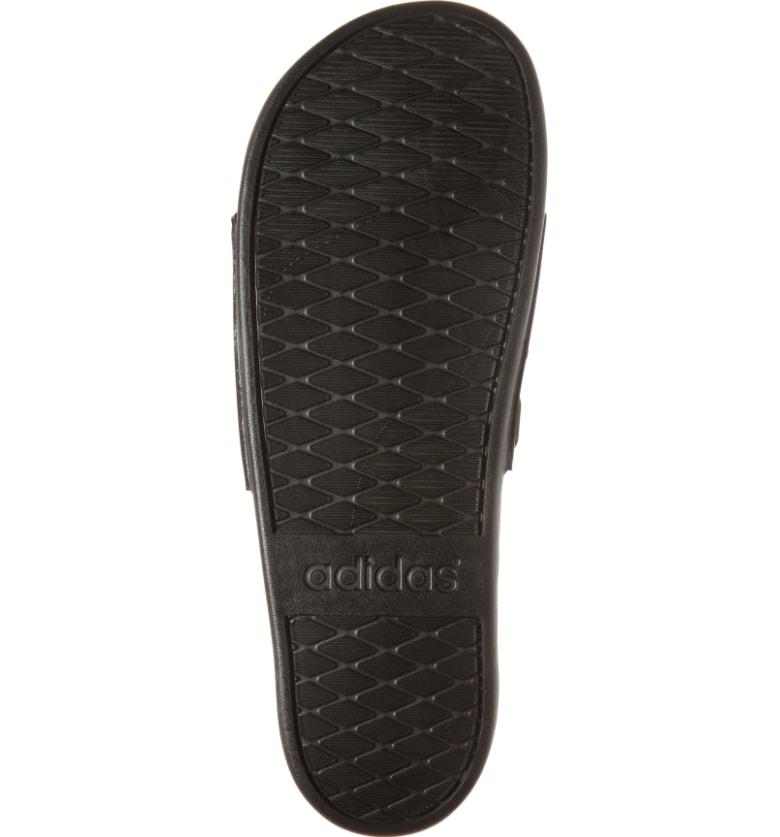 66fc82c93 Adidas Originals Adilette Cloudfoam Plus Mono Slide Sandals - Black ...