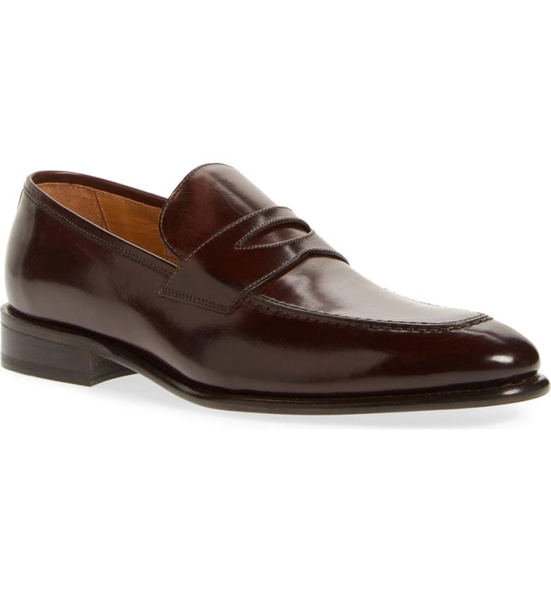 1c00e14fb08 Florsheim Imperial Venucci Apron Toe Penny Loafer In Brown Leather ...
