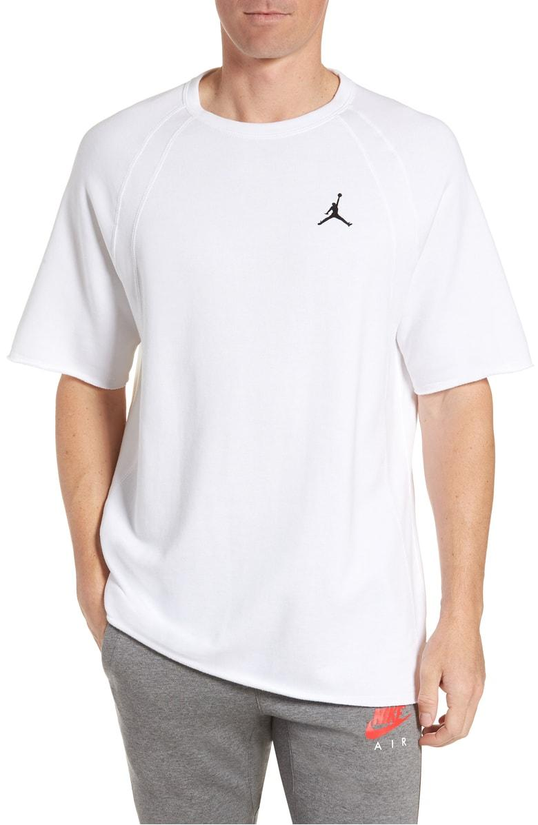 bc83967dc622 Nike Wings Light Short Sleeve Sweatshirt In White  Black