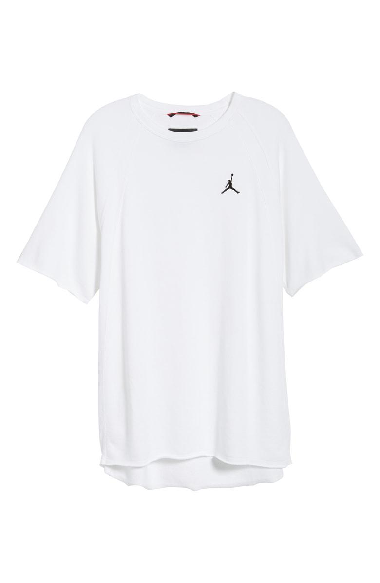 5c4473dea08 Nike Wings Light Short Sleeve Sweatshirt In White/ Black | ModeSens