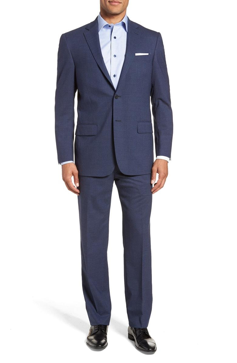 Hart Schaffner Marx New York Classic Fit Stretch Solid ...