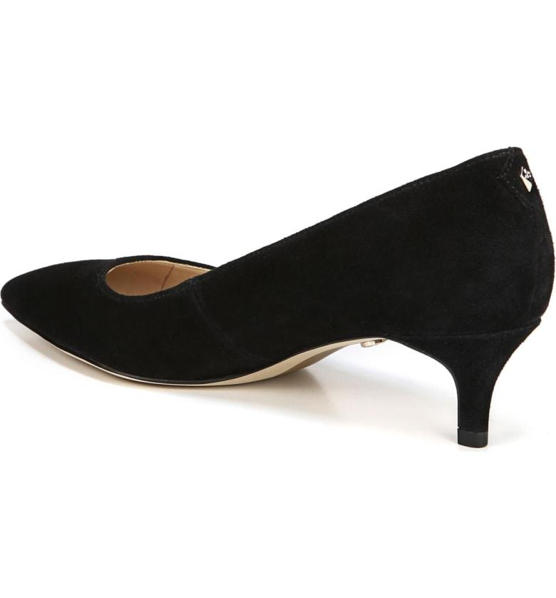 ff245a2fa921 Sam Edelman Women s Dori Pointed Toe Kitten Heel Pumps In Black Suede