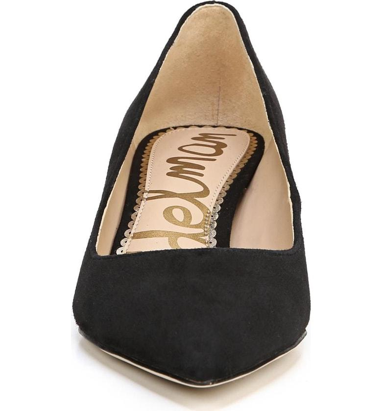 df7afc57ff41cd Sam Edelman Women s Dori Pointed Toe Kitten Heel Pumps In Black Suede