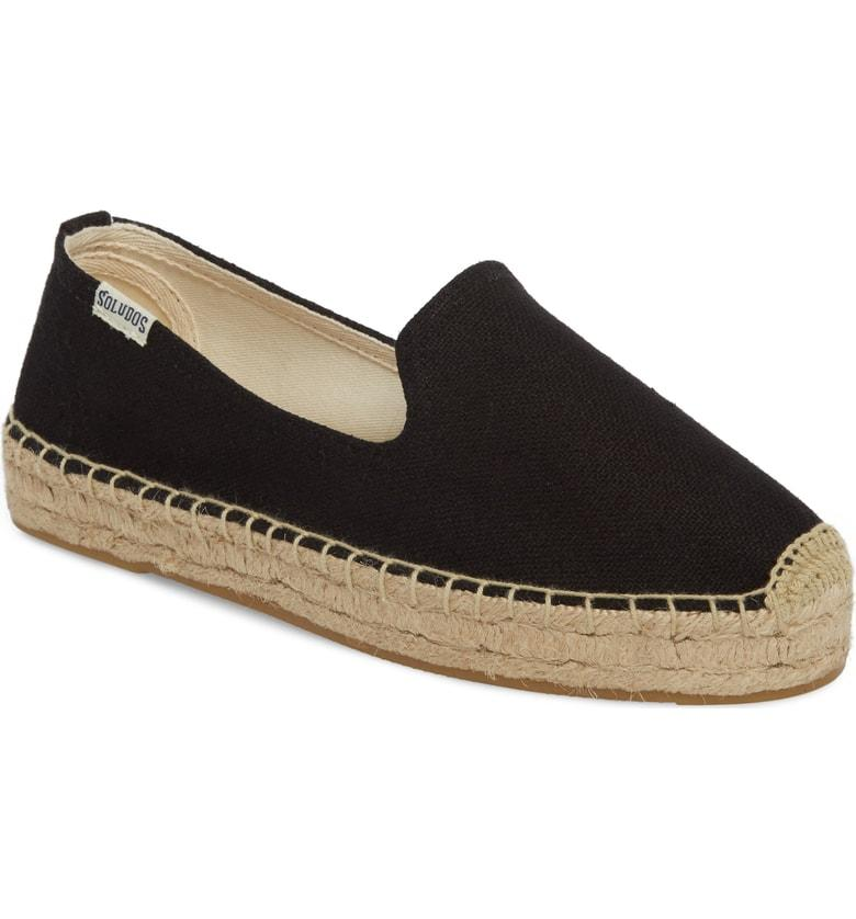 b7a274450013 Soludos Platform Smoking Slipper Espadrille In Black