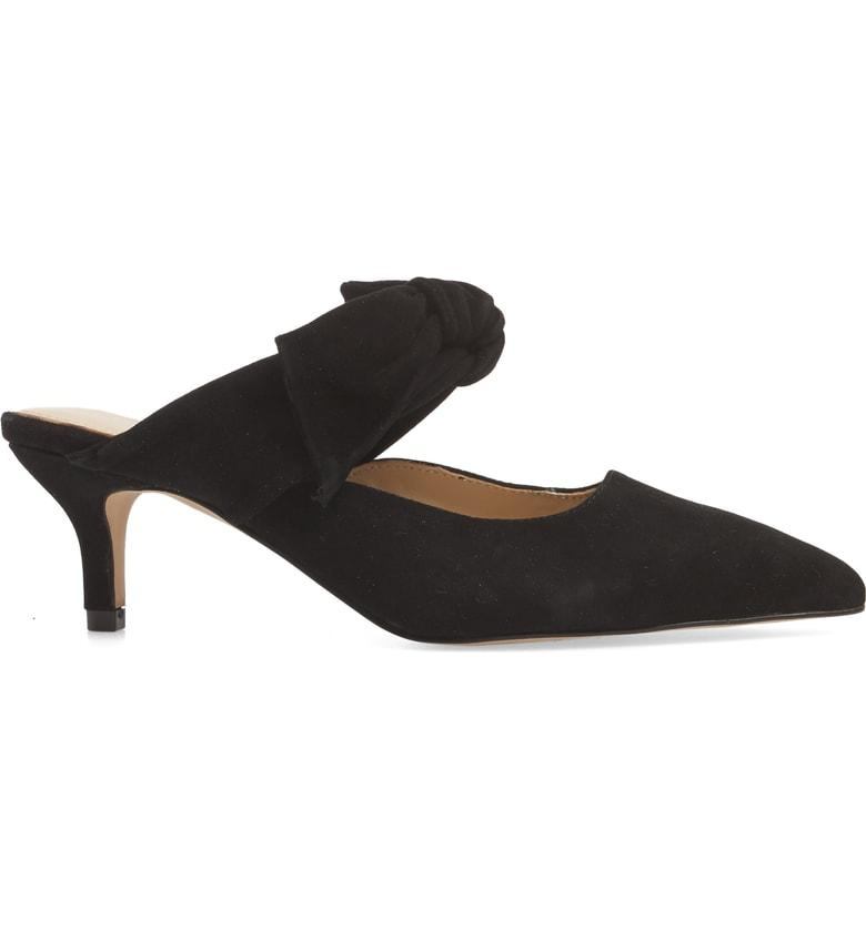 5673f0bc7d Botkier Women'S Pina Bow-Accented Suede Kitten Heel Mules In Black ...