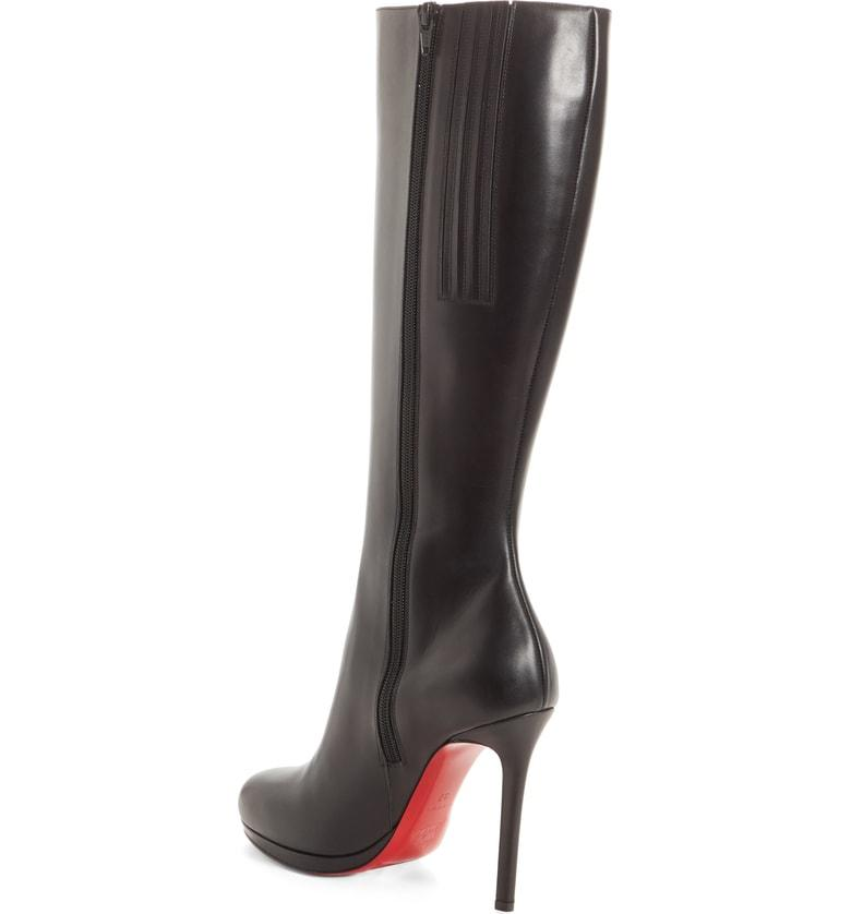 d87b4bf77ea Christian Louboutin Botalili Tall Red Sole Boot In Black
