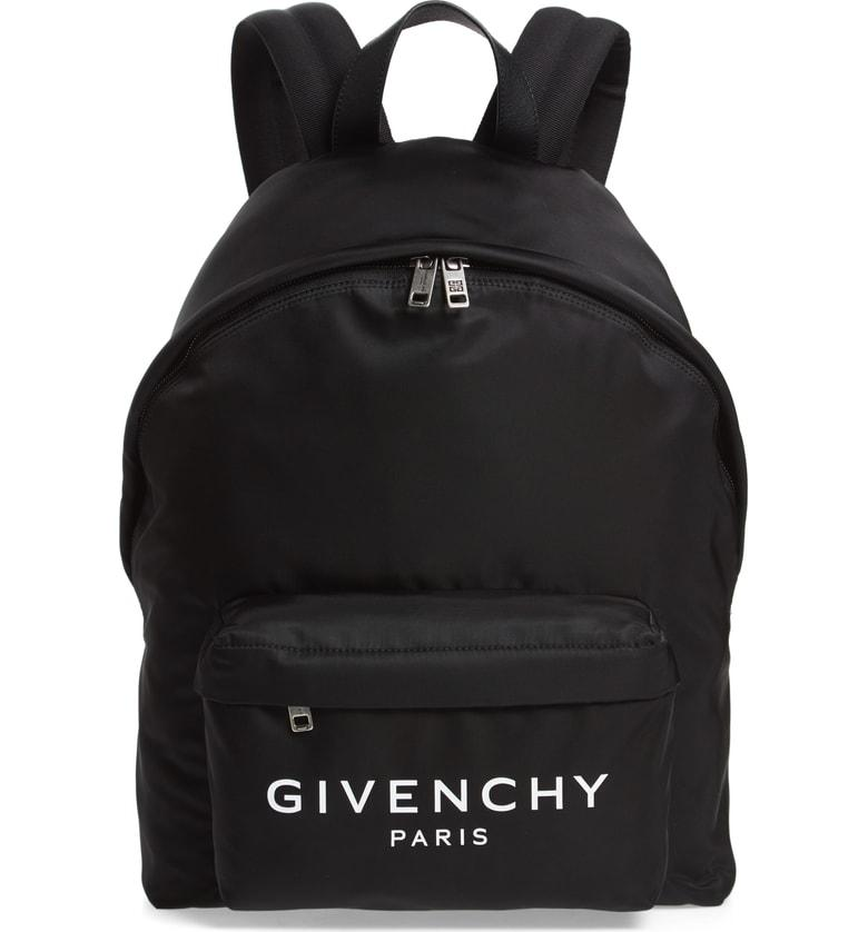 5889b3246f Givenchy Urban Leather-Trimmed Nylon Backpack In Black