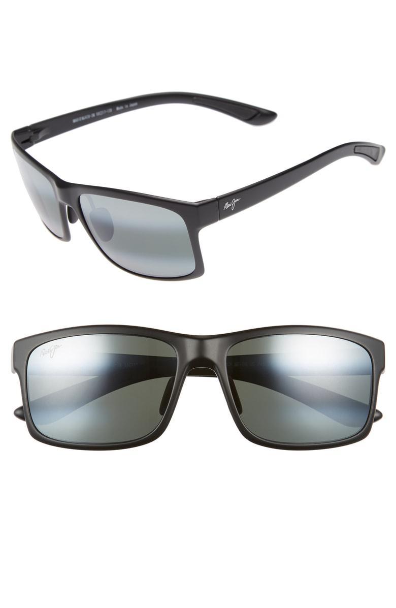 711f0a7f50489 Maui Jim Pokowai Arch 58Mm Polarized Sunglasses - Black Matte  Neutral Grey