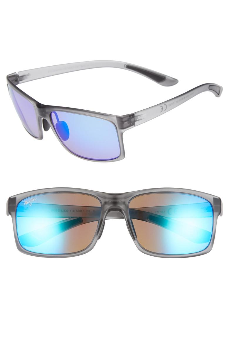 d79021efce Maui Jim Pokowai Arch 58Mm Polarized Sunglasses - Translucent Matte Grey   Blue