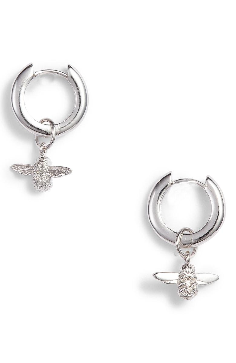 c56296d92 Olivia Burton 3D Huggie Hoop Earrings In Silver   ModeSens