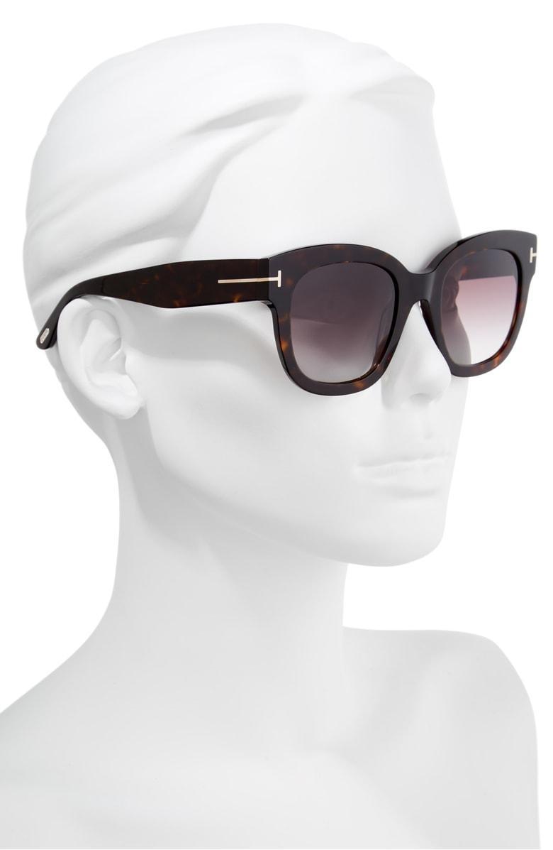 c011b81890 Tom Ford Beatrix 52Mm Sunglasses - Dark Havana  Gradient Bordeaux In Brown