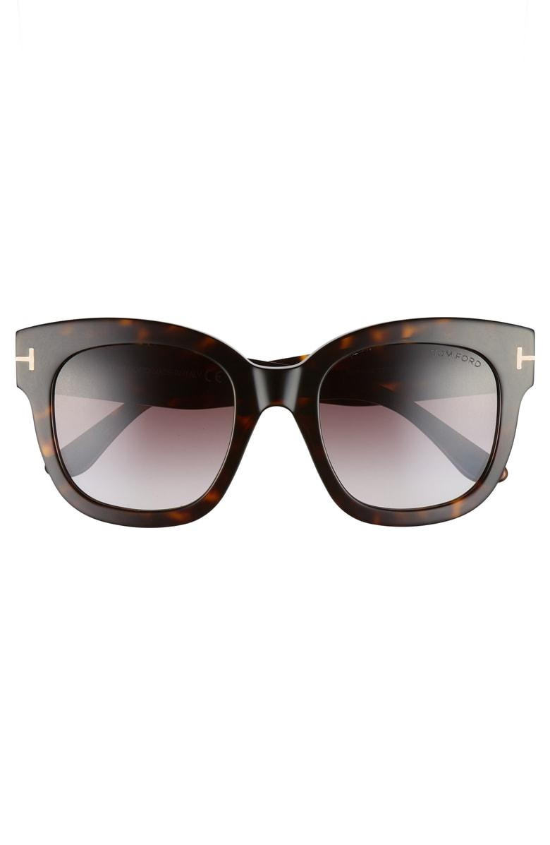 1bfdf1ba79 Tom Ford Beatrix 52Mm Sunglasses - Dark Havana  Gradient Bordeaux In Brown