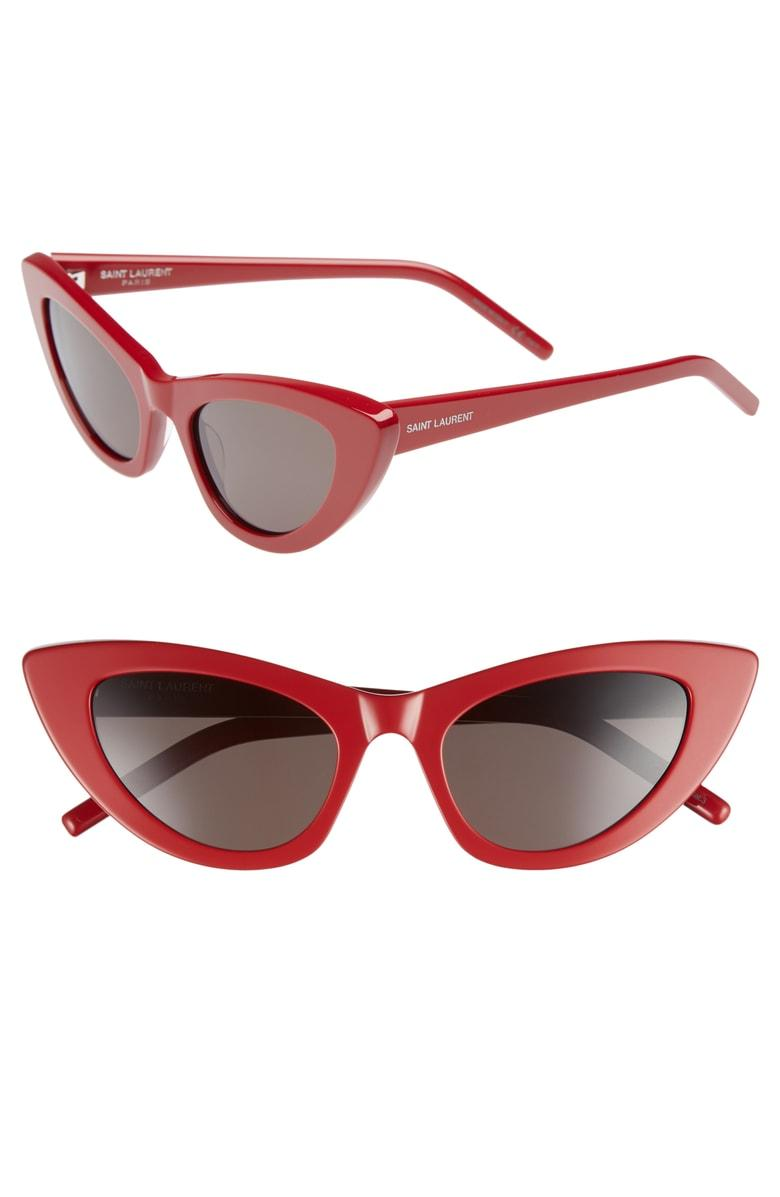 914d18babb Saint Laurent 52Mm Red New Wave 213 Lily Sunglasses