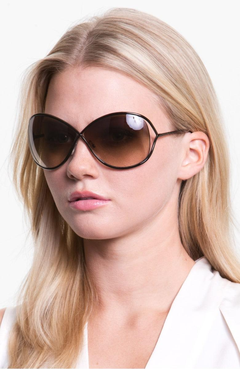 6fb862c42b0b Tom Ford Miranda 68Mm Open Temple Oversize Metal Sunglasses - Bronze ...