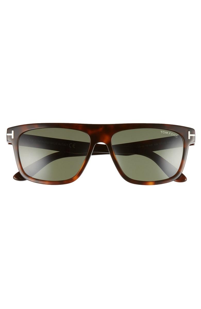 3ed61e654e65 Tom Ford Cecilio 57Mm Blue Block Optical Glasses - Dark Havana  Green