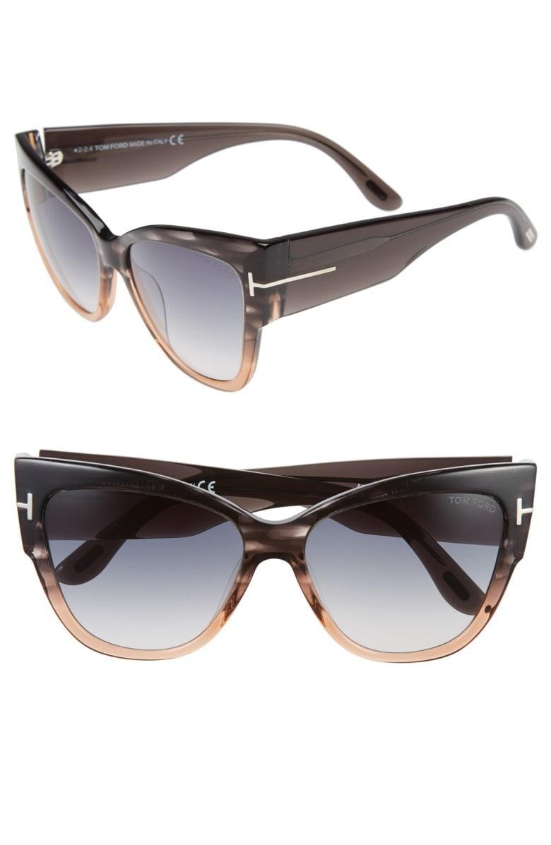 acf51619fb294 Tom Ford Anoushka 57Mm Gradient Cat Eye Sunglasses - Grey  Peach ...