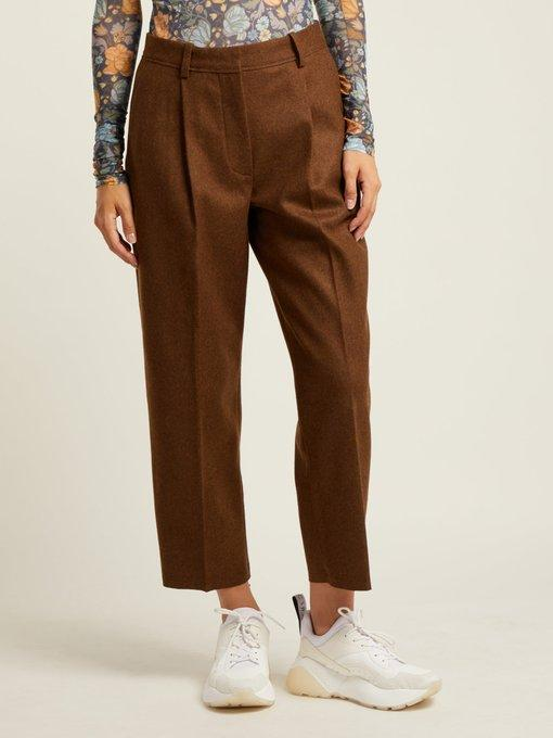 ACNE STUDIOS TAPERED WOOL BLEND TROUSERS