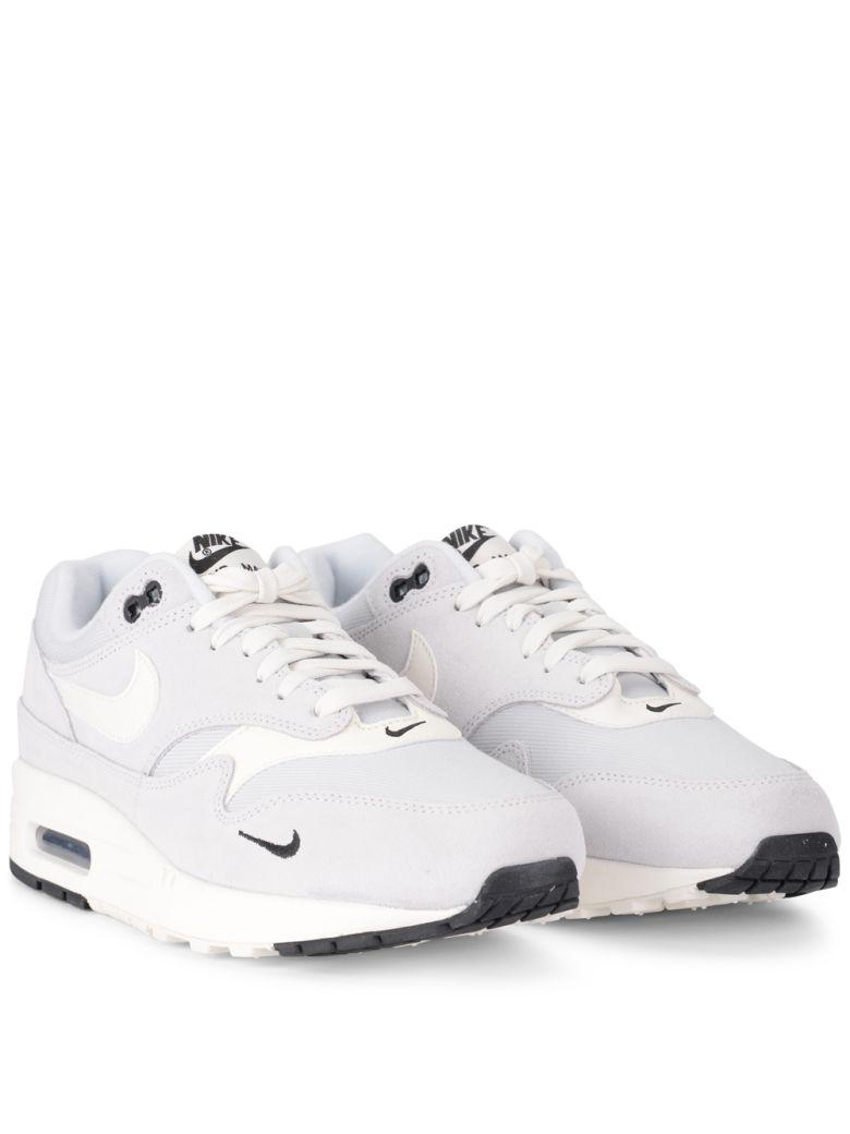 9f5c42ba3d Nike Air Max 1 Premium Grey Suede And Fabric Sneaker In Blue | ModeSens