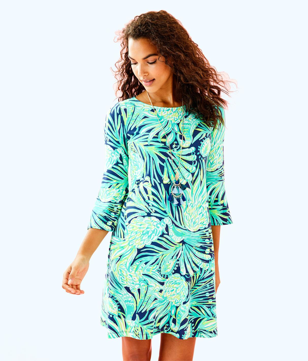 c576f7acd9e9ac Lilly Pulitzer Ophelia Swing Dress In Bright Navy Party Like A Flock Star