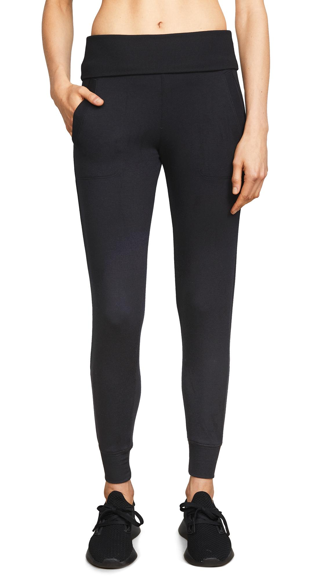 4b06807ef7 Beyond Yoga Cozy Fleece Fold-Over Jogger Sweatpants In Black   ModeSens