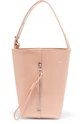 24bf87f6ebc7 Kara Woman Panel Pail Glossed-Leather Bucket Bag Pastel Pink | ModeSens
