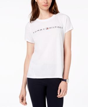 a89471d2 Tommy Hilfiger Sport Crew-Neck Graphic T-Shirt In White | ModeSens
