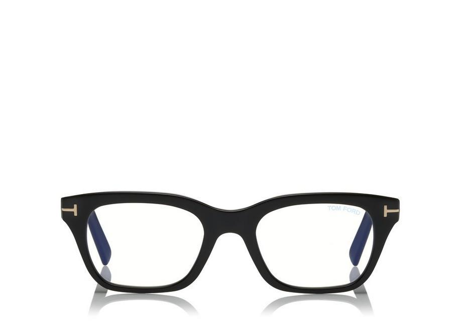 be8609df6f Tom Ford Blue Block Soft Rectangle Opticals In Black