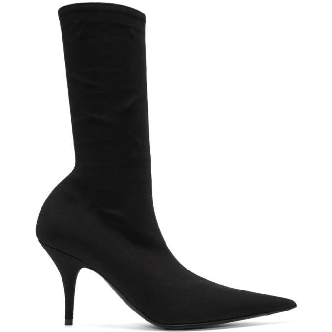 c54321cd6186 Balenciaga Sock-Style Stretch-Jersey Ankle Boots - Noir In Black ...
