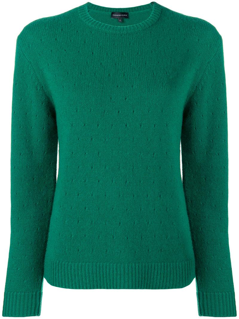 db5d0c54c Cashmere In Love Cashmere Perforated Pattern Jumper - Green