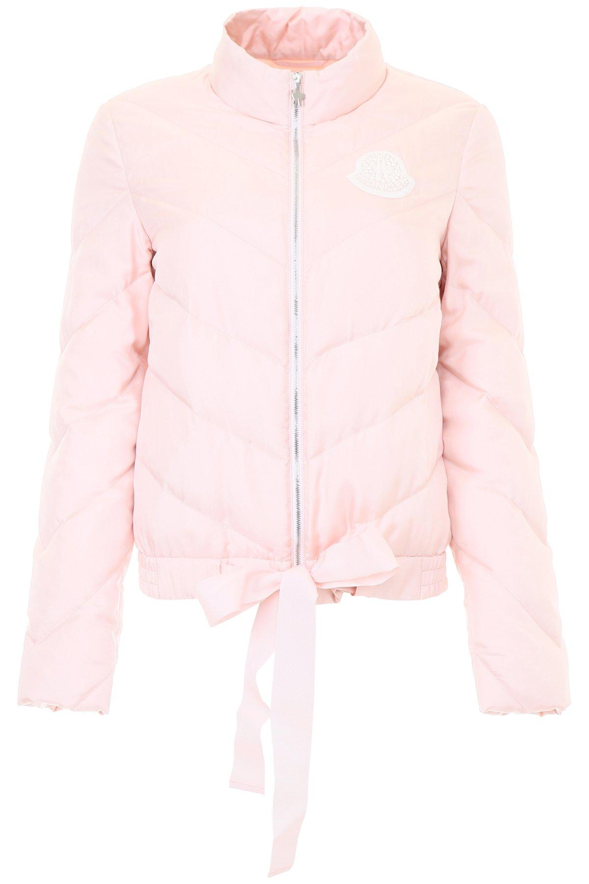 211a28f03803 Moncler Gamme Rouge Pink Down Silk Ballet Ribbon Coat | ModeSens