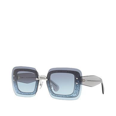 To In Reveal Miu Eyewear Lenses Gradient Square Denim Light Blue EIYeDH29W