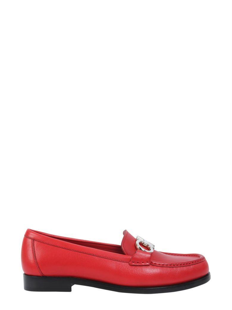 Agrícola compensación Tregua  Salvatore Ferragamo Rolo 25 Red Leather Loafers   ModeSens