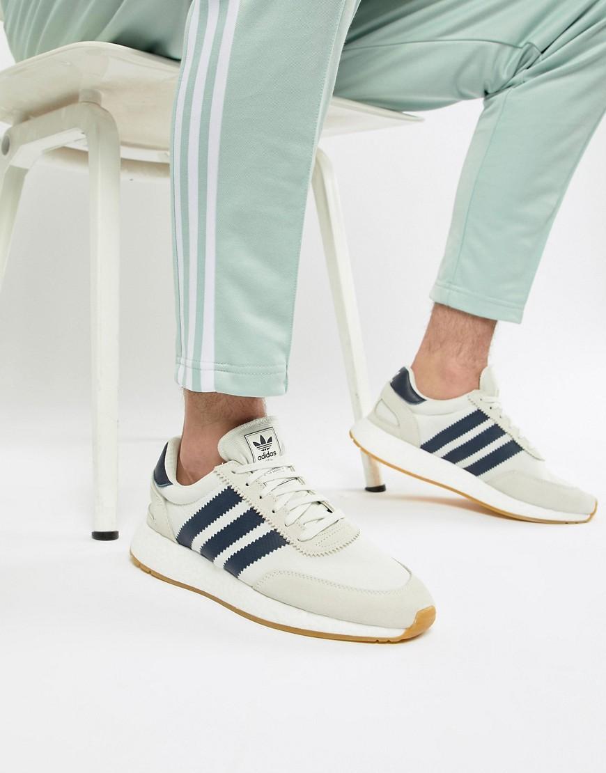 best value 2df7e 6e433 Adidas Originals I-5923 Boost Suede Sneakers In White B37947 - White