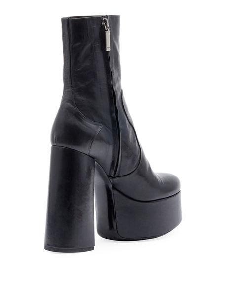 1ecde466cf0d Saint Laurent Billy Kangaroo Leather Platform Boot In Black